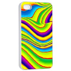 Summer Wave Colors Apple Iphone 4/4s Seamless Case (white) by designworld65