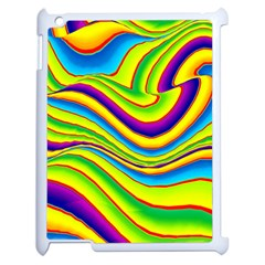 Summer Wave Colors Apple Ipad 2 Case (white) by designworld65