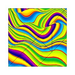 Summer Wave Colors Acrylic Tangram Puzzle (6  X 6 ) by designworld65