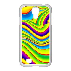 Summer Wave Colors Samsung Galaxy S4 I9500/ I9505 Case (white) by designworld65
