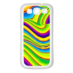 Summer Wave Colors Samsung Galaxy S3 Back Case (white) by designworld65