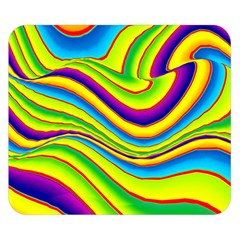Summer Wave Colors Double Sided Flano Blanket (small)  by designworld65
