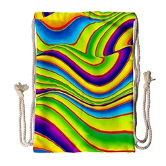 Summer Wave Colors Drawstring Bag (large) by designworld65