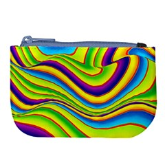Summer Wave Colors Large Coin Purse by designworld65