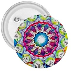 Sunshine Feeling Mandala 3  Buttons by designworld65