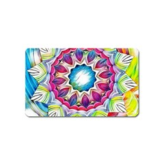 Sunshine Feeling Mandala Magnet (name Card) by designworld65