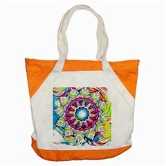 Sunshine Feeling Mandala Accent Tote Bag by designworld65