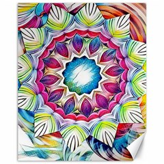 Sunshine Feeling Mandala Canvas 11  X 14   by designworld65