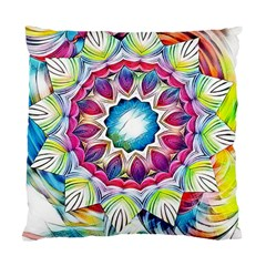 Sunshine Feeling Mandala Standard Cushion Case (two Sides) by designworld65