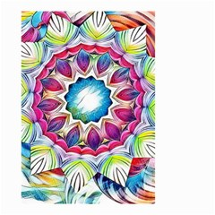Sunshine Feeling Mandala Small Garden Flag (two Sides) by designworld65
