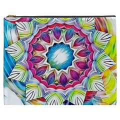 Sunshine Feeling Mandala Cosmetic Bag (xxxl)  by designworld65