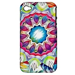 Sunshine Feeling Mandala Apple Iphone 4/4s Hardshell Case (pc+silicone) by designworld65