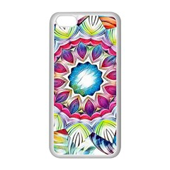 Sunshine Feeling Mandala Apple Iphone 5c Seamless Case (white) by designworld65