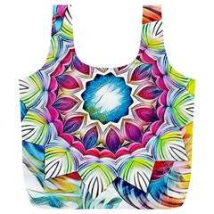 Sunshine Feeling Mandala Full Print Recycle Bags (l)  by designworld65