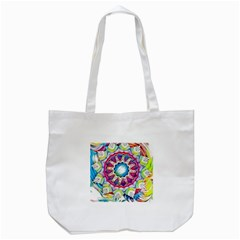 Sunshine Feeling Mandala Tote Bag (white) by designworld65
