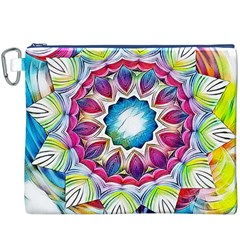 Sunshine Feeling Mandala Canvas Cosmetic Bag (xxxl) by designworld65