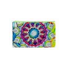 Sunshine Feeling Mandala Cosmetic Bag (xs) by designworld65