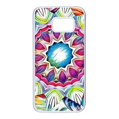 Sunshine Feeling Mandala Samsung Galaxy S7 White Seamless Case by designworld65