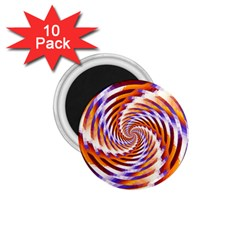 Woven Colorful Waves 1 75  Magnets (10 Pack)  by designworld65
