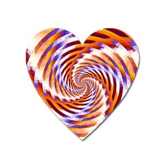 Woven Colorful Waves Heart Magnet by designworld65