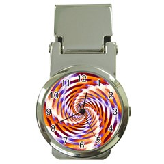 Woven Colorful Waves Money Clip Watches by designworld65