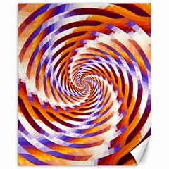 Woven Colorful Waves Canvas 16  X 20   by designworld65