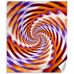 Woven Colorful Waves Canvas 20  X 24   by designworld65