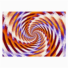 Woven Colorful Waves Large Glasses Cloth by designworld65