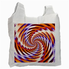 Woven Colorful Waves Recycle Bag (two Side)  by designworld65