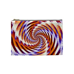 Woven Colorful Waves Cosmetic Bag (medium)  by designworld65