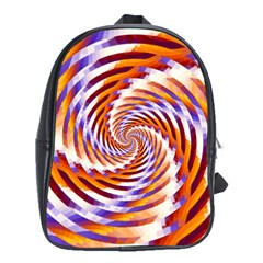 Woven Colorful Waves School Bag (large) by designworld65