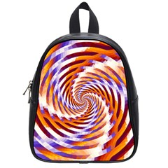 Woven Colorful Waves School Bag (small) by designworld65