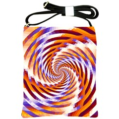 Woven Colorful Waves Shoulder Sling Bags by designworld65