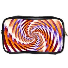 Woven Colorful Waves Toiletries Bags 2 Side by designworld65