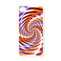 Woven Colorful Waves Apple Iphone 4 Case (white) by designworld65
