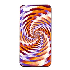 Woven Colorful Waves Apple Iphone 4/4s Seamless Case (black) by designworld65