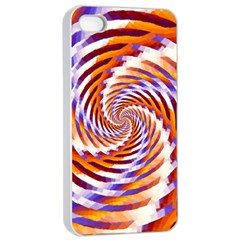 Woven Colorful Waves Apple Iphone 4/4s Seamless Case (white) by designworld65