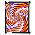 Woven Colorful Waves Apple iPad 2 Case (Black) Front