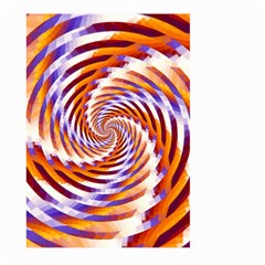 Woven Colorful Waves Large Garden Flag (two Sides) by designworld65