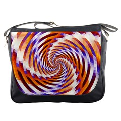 Woven Colorful Waves Messenger Bags by designworld65