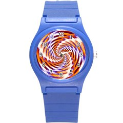 Woven Colorful Waves Round Plastic Sport Watch (s) by designworld65