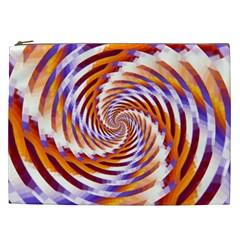 Woven Colorful Waves Cosmetic Bag (xxl)  by designworld65