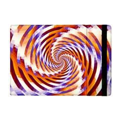 Woven Colorful Waves Apple Ipad Mini Flip Case by designworld65
