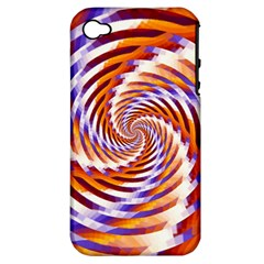 Woven Colorful Waves Apple Iphone 4/4s Hardshell Case (pc+silicone) by designworld65