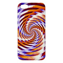 Woven Colorful Waves Apple Iphone 5 Premium Hardshell Case by designworld65