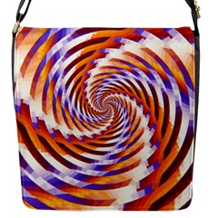 Woven Colorful Waves Flap Messenger Bag (s) by designworld65