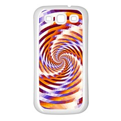 Woven Colorful Waves Samsung Galaxy S3 Back Case (white) by designworld65