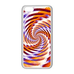 Woven Colorful Waves Apple Iphone 5c Seamless Case (white) by designworld65