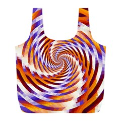 Woven Colorful Waves Full Print Recycle Bags (l)  by designworld65