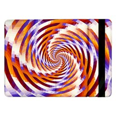 Woven Colorful Waves Samsung Galaxy Tab Pro 12 2  Flip Case by designworld65